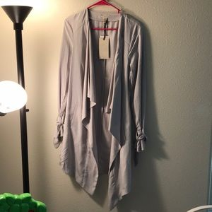 Light Gray long blazer